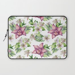 Orchids. White pattern Laptop Sleeve