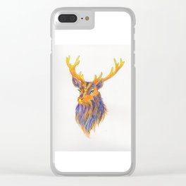 Stag Technicolour Clear iPhone Case