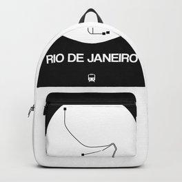 Rio De Janeiro White Subway Map Backpack