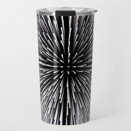 Abstract black and white background Travel Mug
