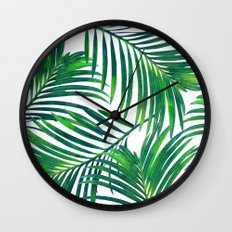 Palm Paradise #society6 #decor #buyart Wall Clock