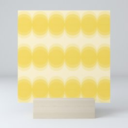 Four Shades of Yellow Circles Mini Art Print