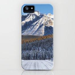 Winter Wonderland - Road in the Canadian Rockies iPhone Case
