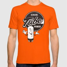 Genuine Tube Power Mens Fitted Tee Orange X-LARGE