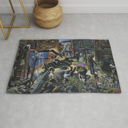 American Masterpiece 'Automobile Accident' by Howard Taft Lorenz Rug