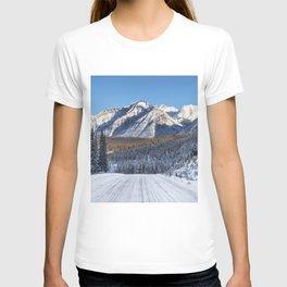 Winter Wonderland - Road in the Canadian Rockies T-shirt