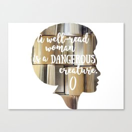 Well-Read Woman Canvas Print
