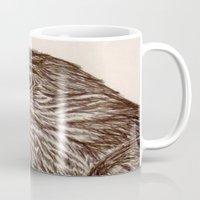 hawk Mugs featuring Hawk by Leslie Creveling