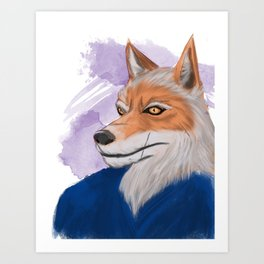 Yahei from 47 Furious Tails: Art by Alexia Veldhuisen Art Print