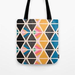 Triangle collage Tote Bag