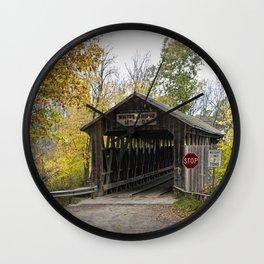 Whites Covered Bridge in Michigan Wall Clock