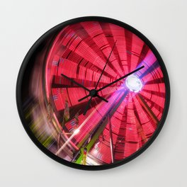 Spinning Your Wheels the ferris wheel carnival ride Wall Clock