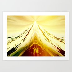 Volcanic Ice Mountain Art Print