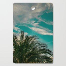 Palms on Turquoise - II Cutting Board