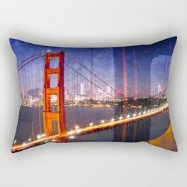City Art Golden Gate Bridge Composing Rectangular Pillow