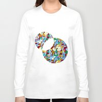mozart Long Sleeve T-shirts featuring Mozart abstraction by Laura Roode