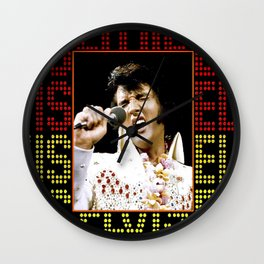 Elvis in Concert Wall Clock