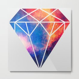 Diamond Galaxy Metal Print