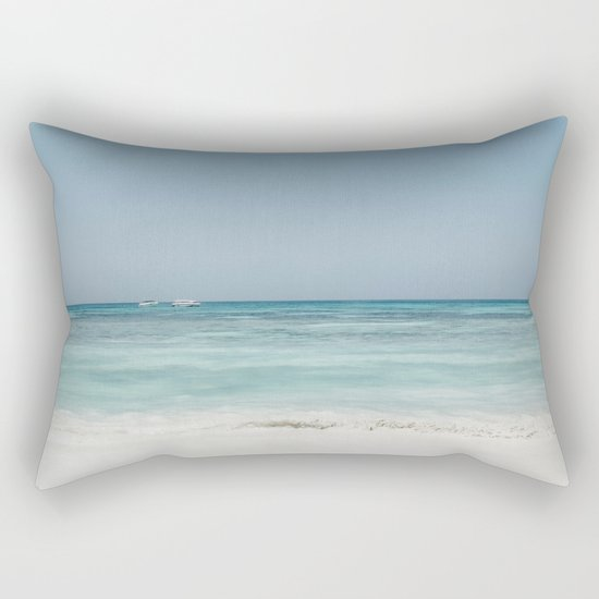 Crash Into The Sea Rectangular Pillow