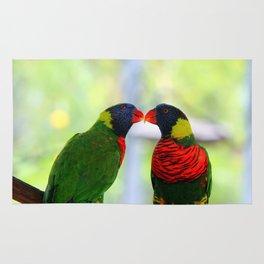 Rainbow Birds Rug