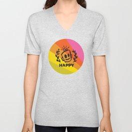 International Day of HAPPINESS Unisex V-Neck