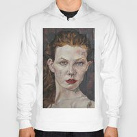 poker Hoodies featuring Poker face by Charles Ellison