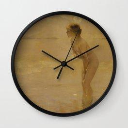 September Morn Wall Clock