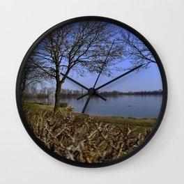 Looking at a lake in Laupheim Wall Clock
