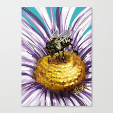 Wasp on flower 3 Canvas Print