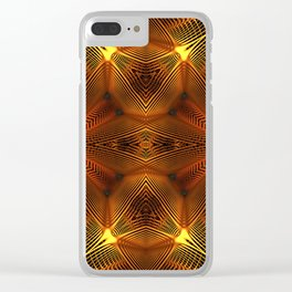 Golden Thread Clear iPhone Case