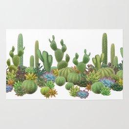 Milagritos Cacti on white background. Rug