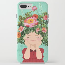 Spring Flower Girl iPhone Case