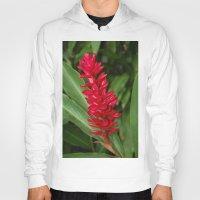 hawaiian Hoodies featuring Hawaiian flower by lennyfdzz