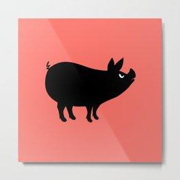 Angry Animals: Piggy Metal Print