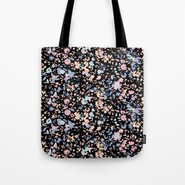Fractured pastel flowers Tote Bag