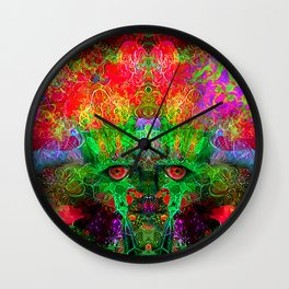 The Flower King Wall Clock