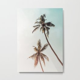 Palms Beach Summer Metal Print