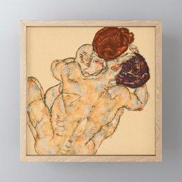 """Egon Schiele """"Mann und Frau (Umarmung)"""" Framed Mini Art Print"""