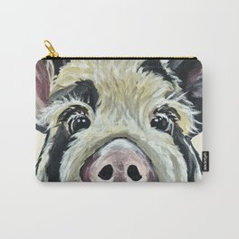 Pig Art, Farm Animal, Cute Pig Painting Carry-All Pouch