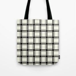 Large Ivory Weave Tote Bag