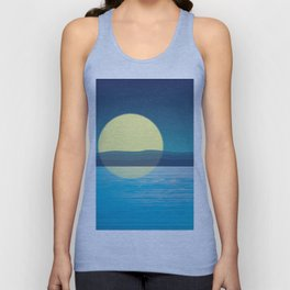 Night at the sea Unisex Tank Top