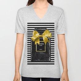 Black perfume watercolor painting Unisex V-Neck