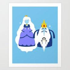 Ice Couple Art Print