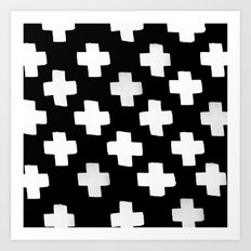 Criss Cross Pattern Art Print