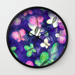 Butterfly Watercolor Wall Clock