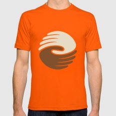 Peace Mens Fitted Tee SMALL Orange
