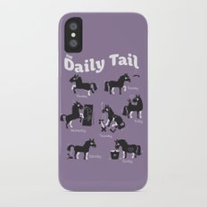 The Daily Tail Horse iPhone X Slim Case