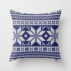 Winter knitted pattern 2 Throw Pillow
