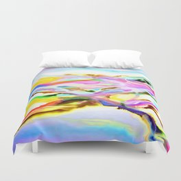 Coastal Color Abstract Duvet Cover