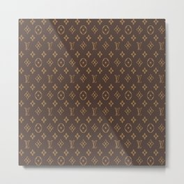 Louisvuitton Brown pattern Metal Print
